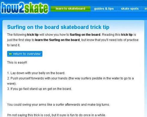 How2Skate - Surfing