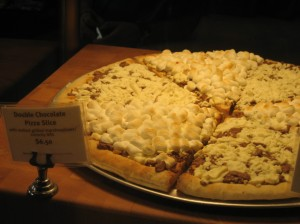 Of course chocolate pizza is classy!