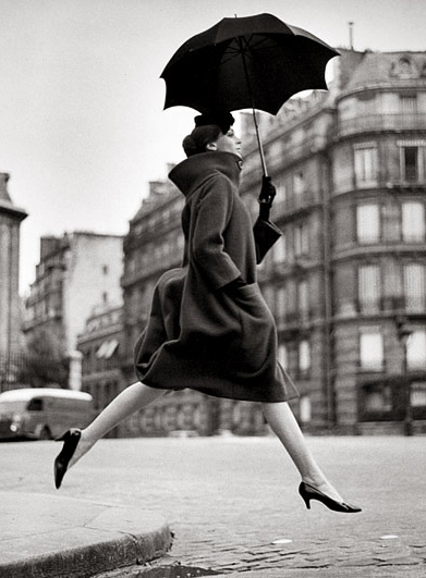 Richard Avedon - Carmen, coat by Cardin, 1957