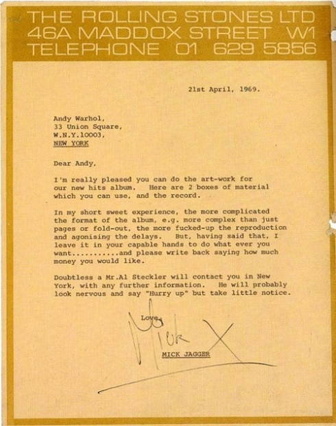 From Mick Jagger
